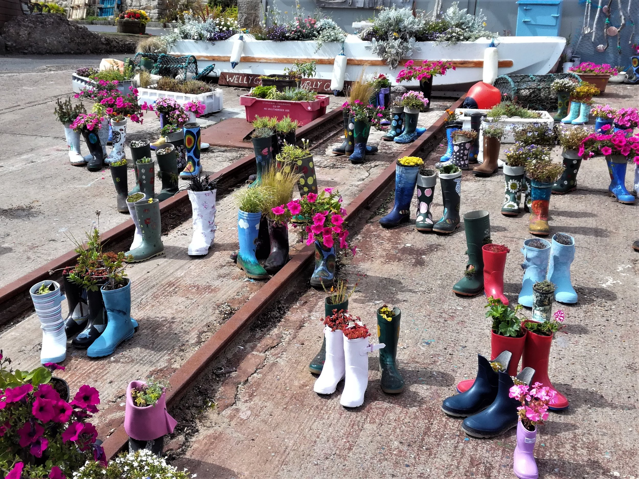 The quirky welly-boot garden at St Monan's always raises a smile.