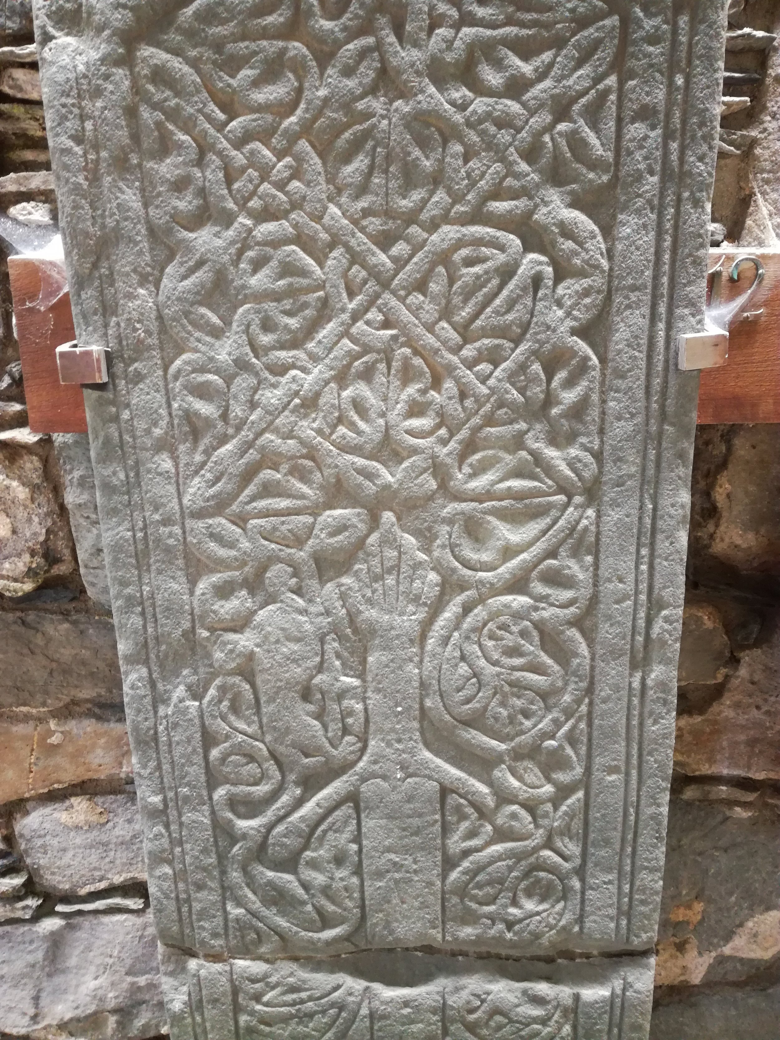 Celtic engraved stone slabs, Scottish tours with walks, small group adventures, Roaming Scotland .jpg