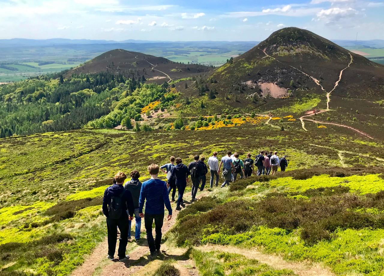 Walking group in the Eildon Hills -  Scottish Tours with Walks. - Roaming Scotlandjpeg