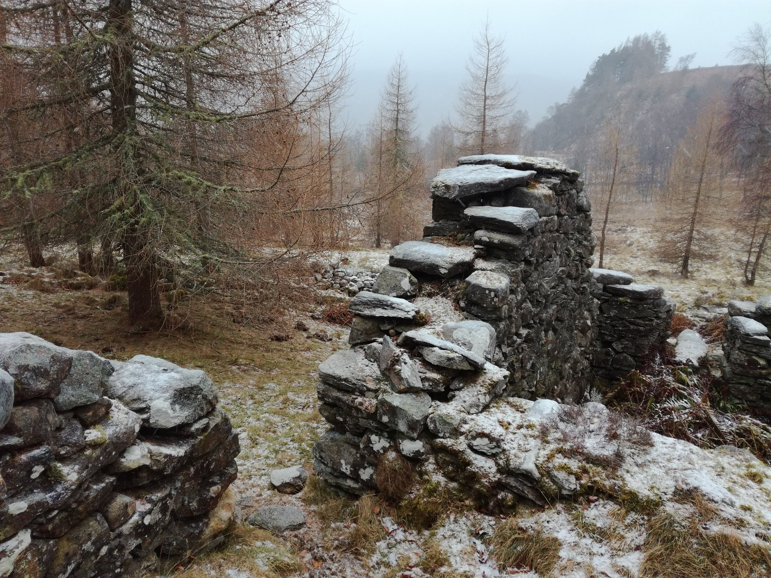 The haunting remains of sheilings, telling of the former way of Highland life.
