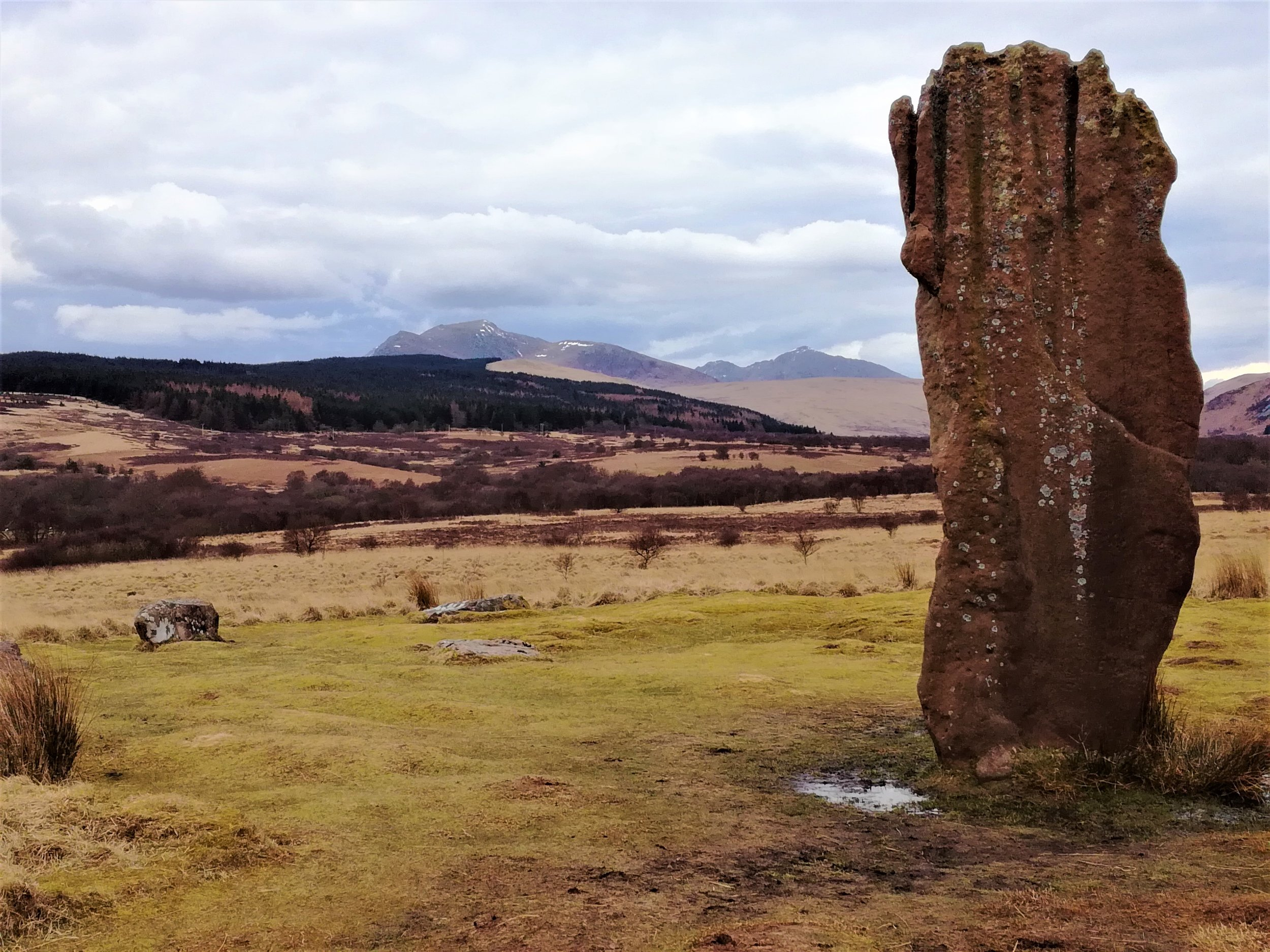 Standing stone at Machrie