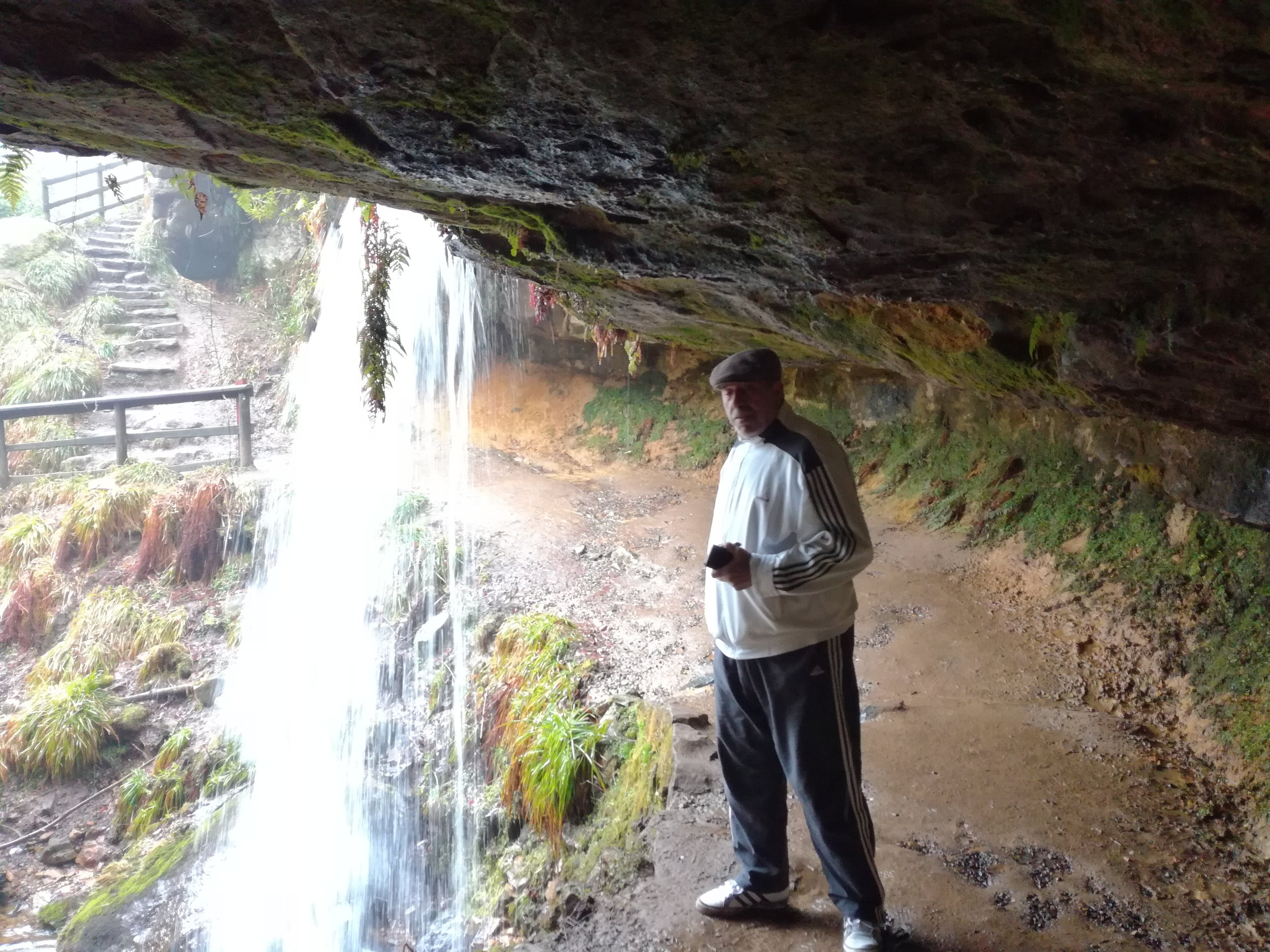 Walk behind a waterfall, Tour & Walk Scotland in small group adventures - Roaming Scotland.jpg