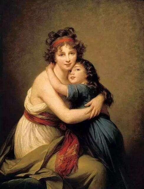 《画家和她的女儿》勒布伦   Madame Vigée-LeBrun and her daughter, Jeanne-Lucie-Louise, called JulieElisabeth Louise Vigée-LeBrun