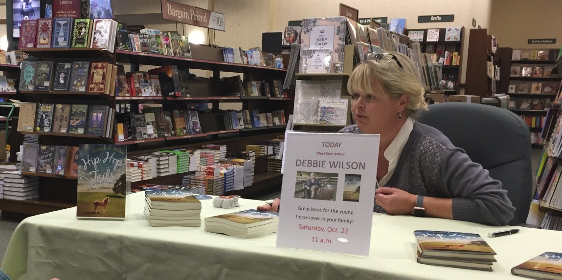 Debbie at her Barnes and Noble Book Signing