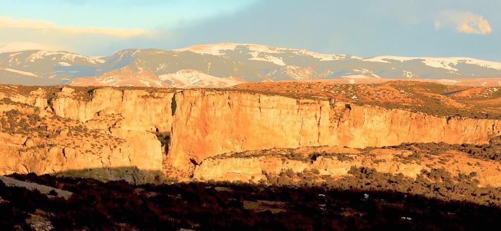 The Big Horn Canyon at sunset