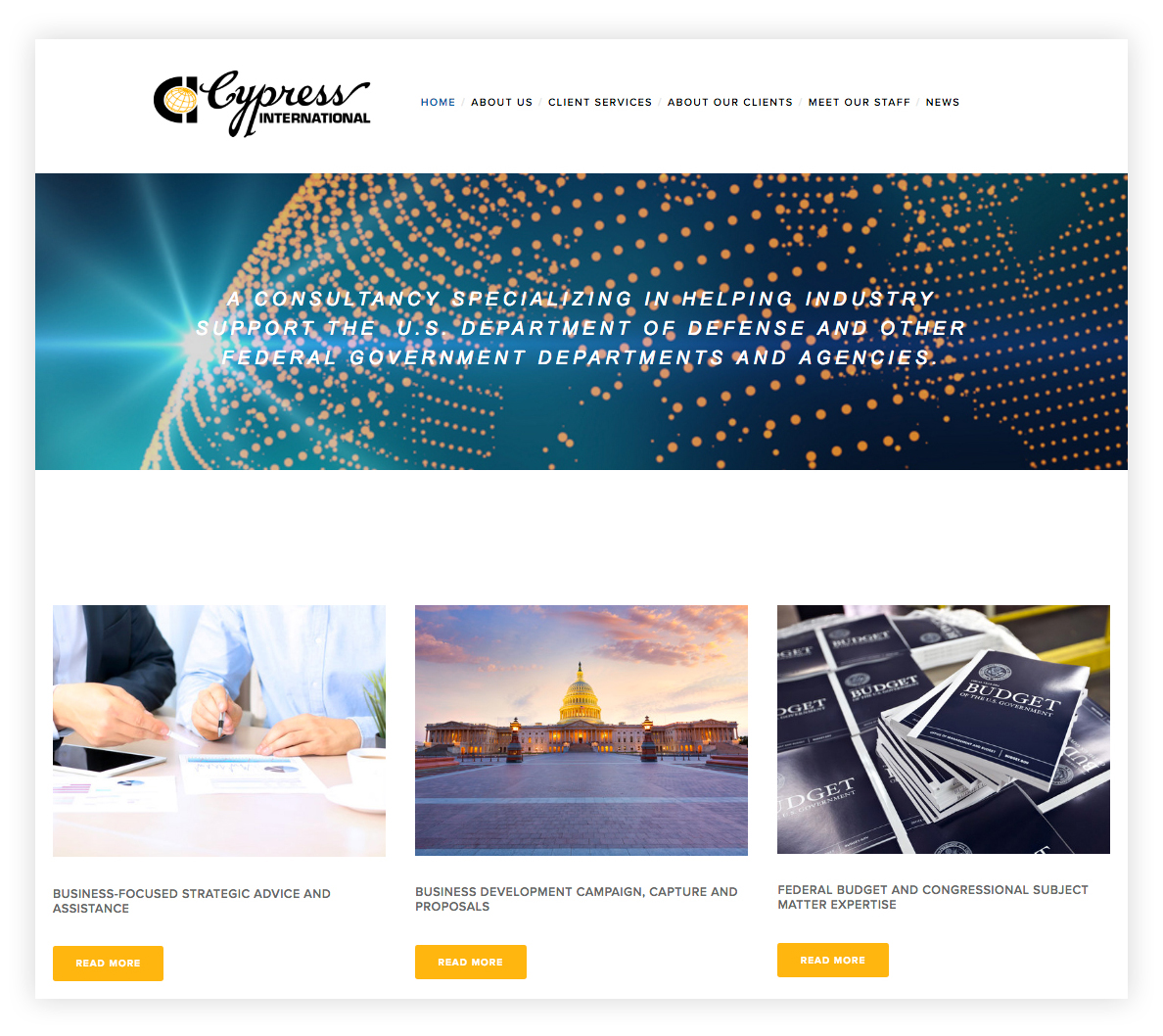 Cypress International's New Website