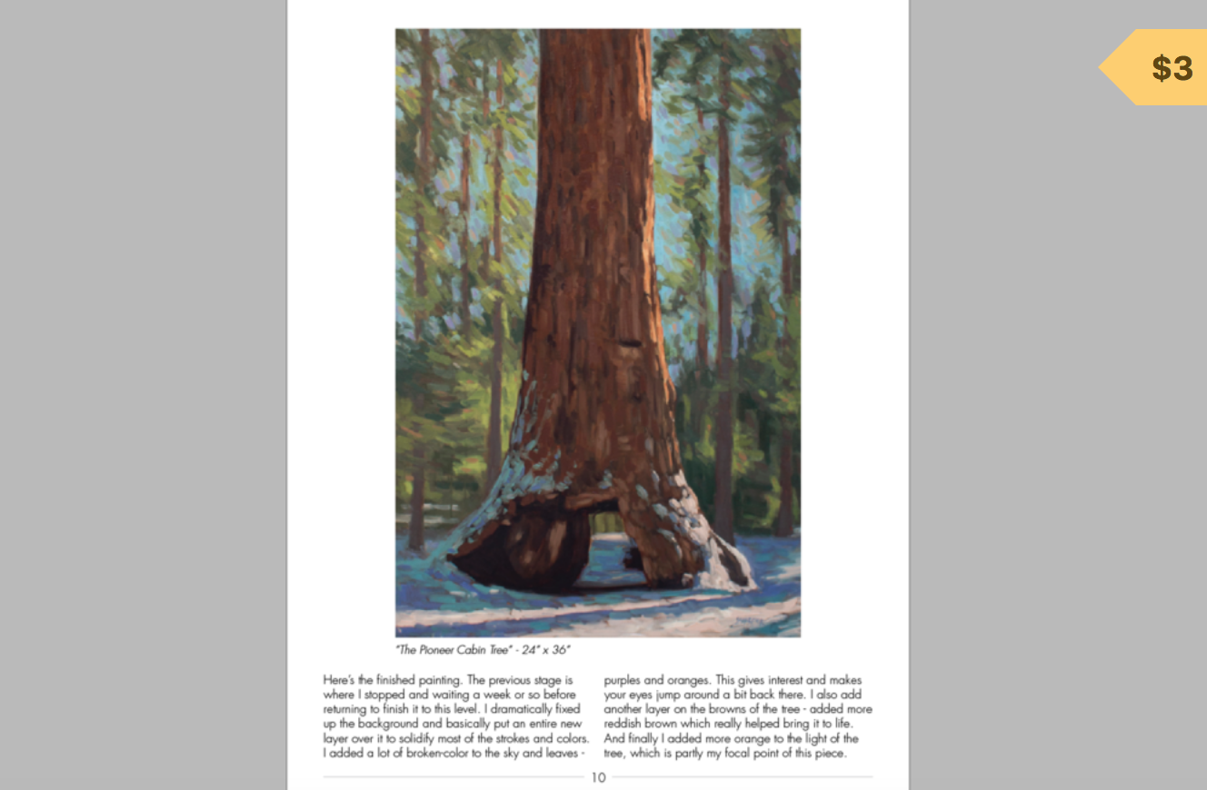 Pioneer cabin tree - oil painting Tutorial - This PDF file walks you through the process photos of how I painted and created this painting from a blank canvas. Hope you enjoy! :)