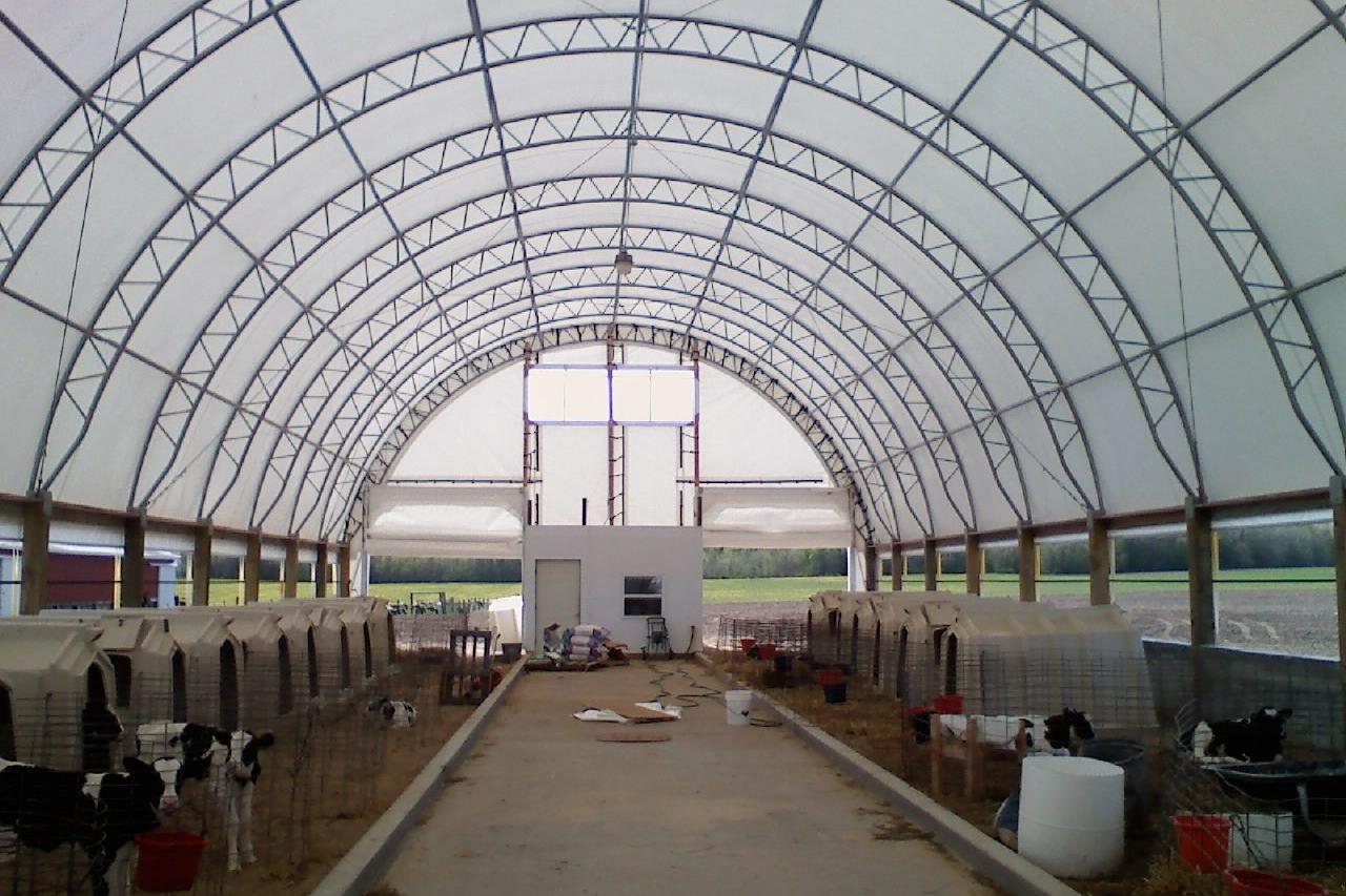 Fabric Building Calf Barn