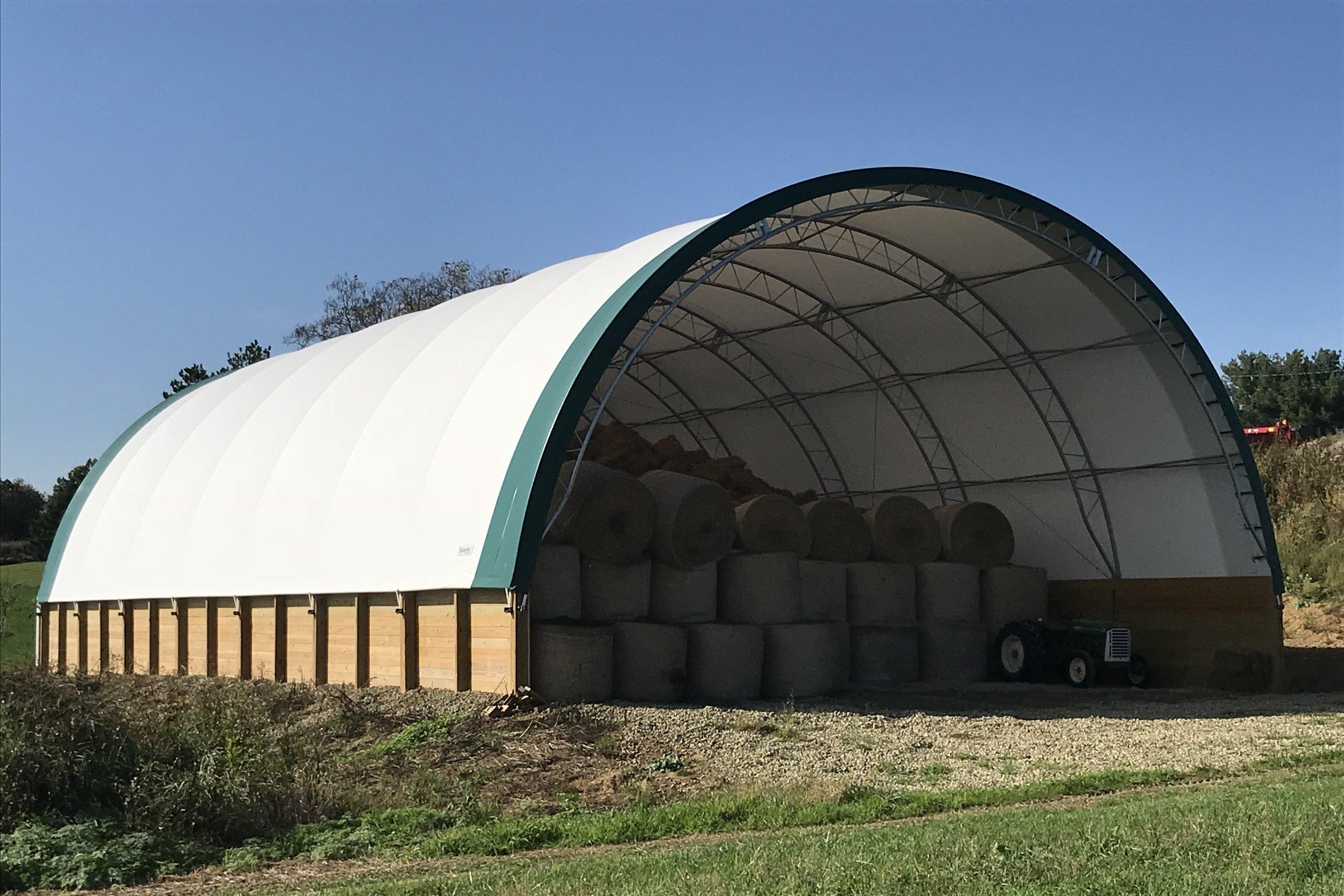 Fabric Building Hay Storage