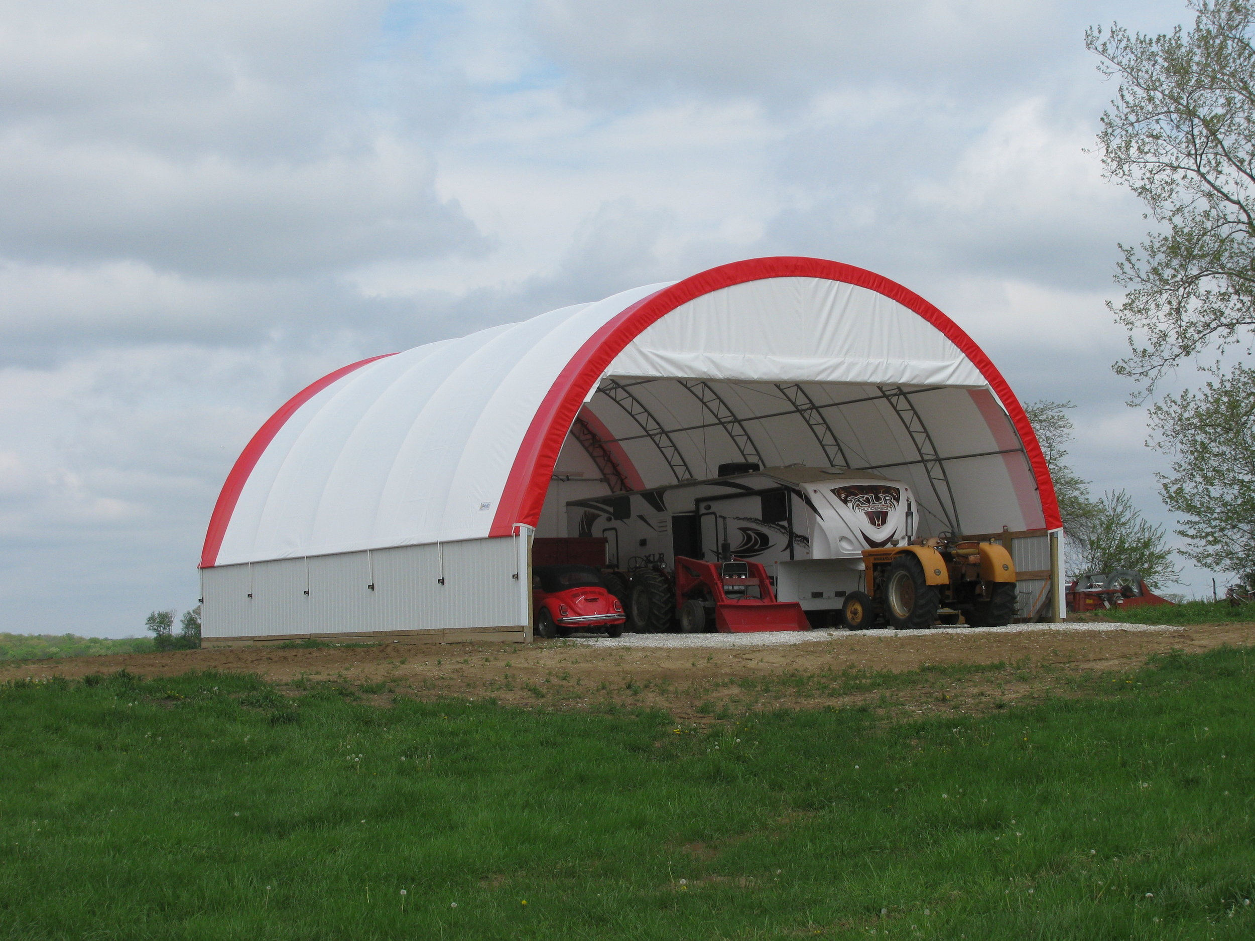 Fabric Building for Equipment Storage