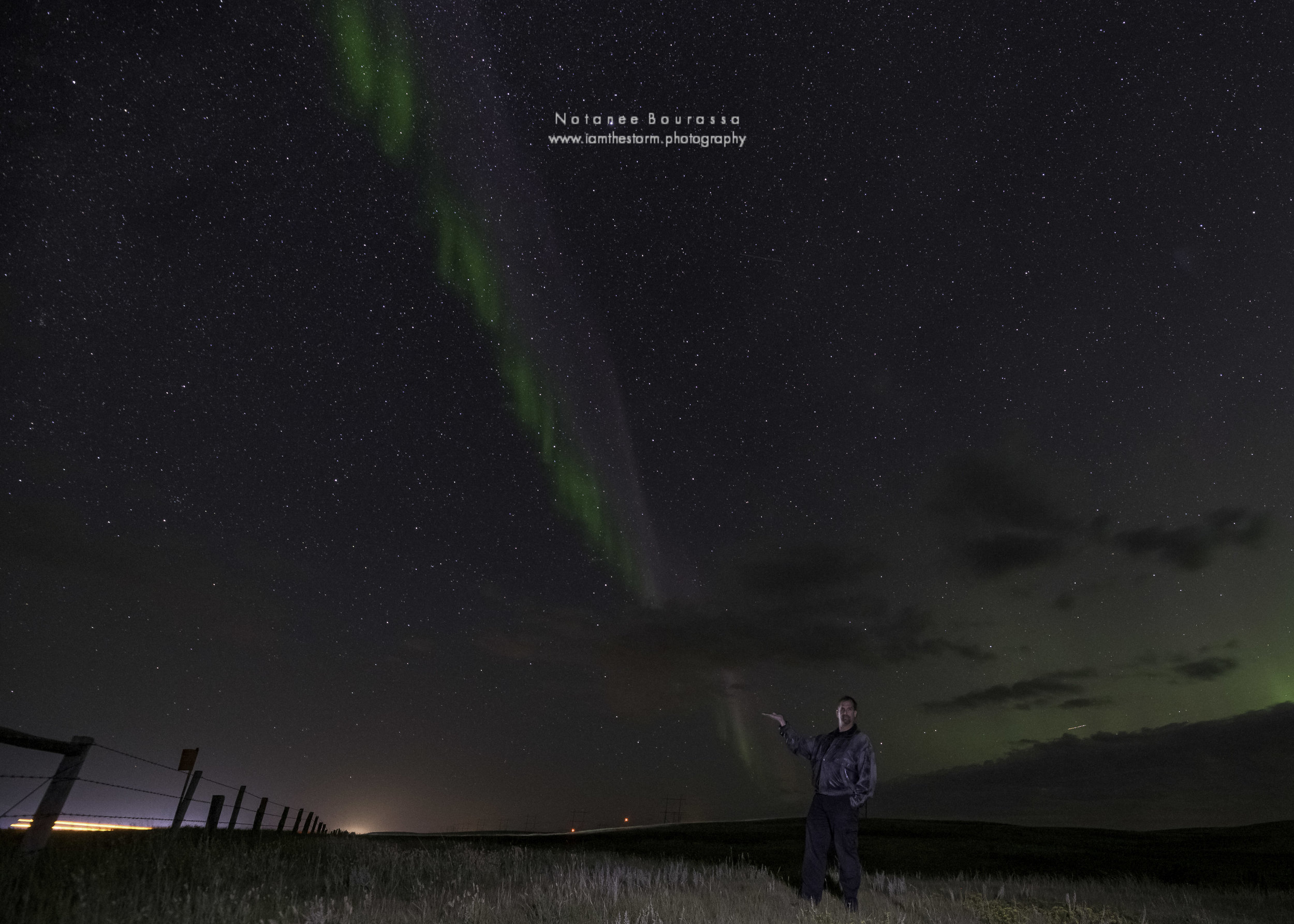 STEVE, the (Strong Thermal Emission Velocity Enhancement) as seen to the west captured near Parkbeg SK after midnight on August 31st, 2019.
