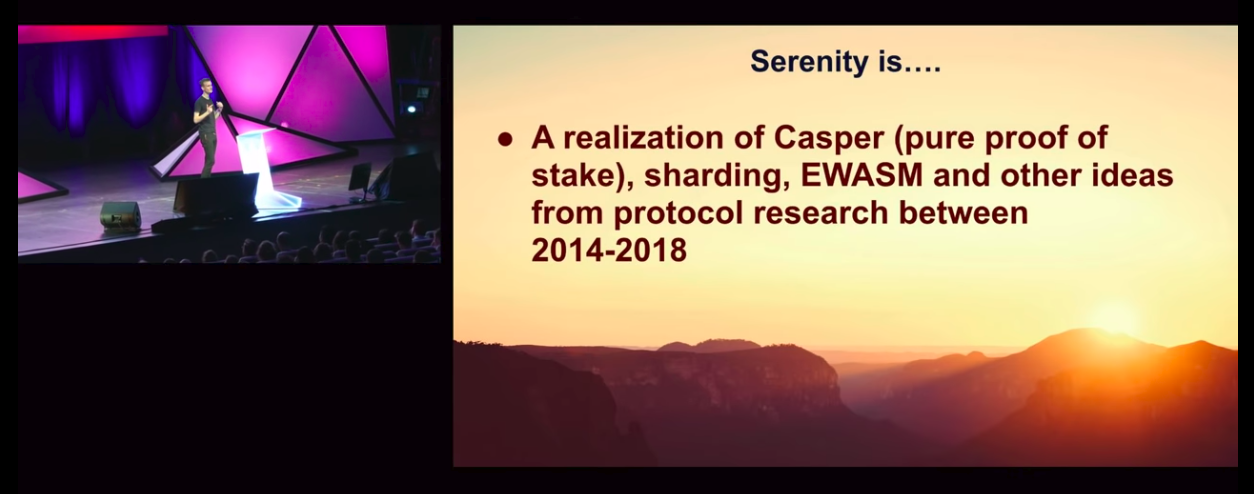 Vitalik Presents Ethereum's next upgrade: Serenity at Devcon4