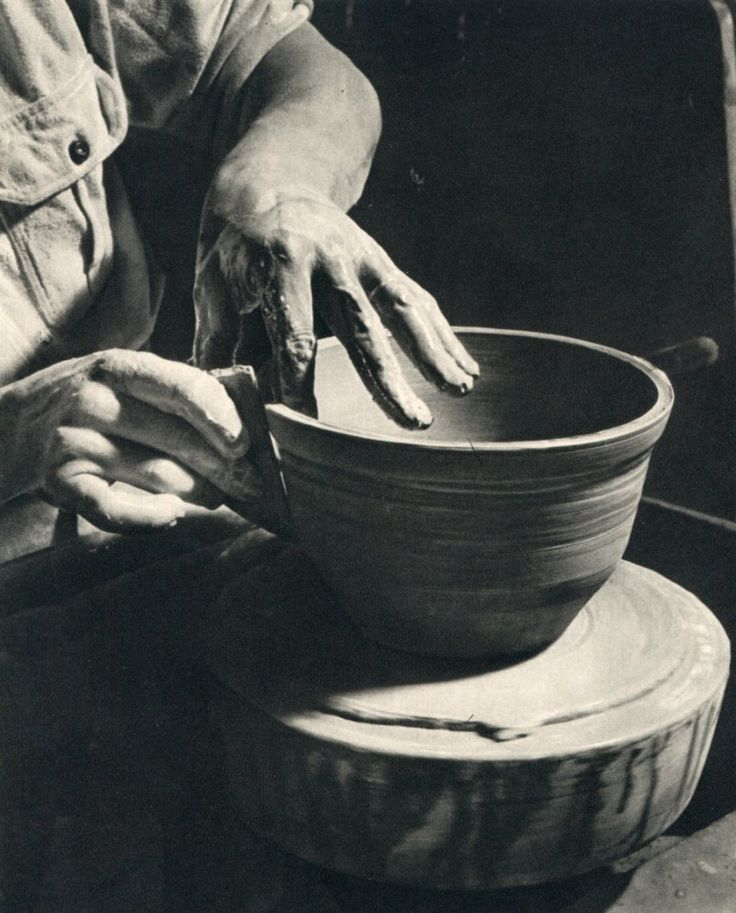 """Potter's Hands"": my great uncle at work, taken by my grandfather in the 1940s."