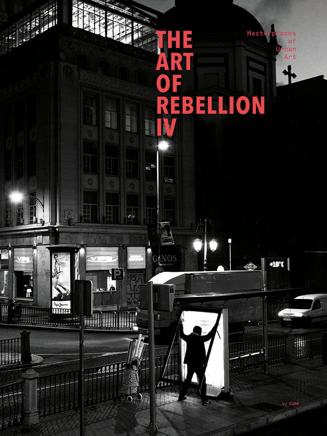 The Art of Rebellion IV - HardcoverNovember 1, 2016by Christian Hundertmark (Author)One of the most successful street art series ever published with 100,000 copies in print, Art of Rebellion was the originator, presenting the finest artwork ever created by artists on the street worldwide. Now at long last comes a new volume featuring approximately 100 artists with their personal favorites innovative work in a variety of media that arrests our attention and transforms our cities into open air museums. Artists featured include SPY, Vhils, Stak, Jordan Seiler, Ripo, Dotsy, Toasters, Felipe Pantone, SPY, HuskMitNavn, Ermsy, *G, Space Invader, Nomad and more.
