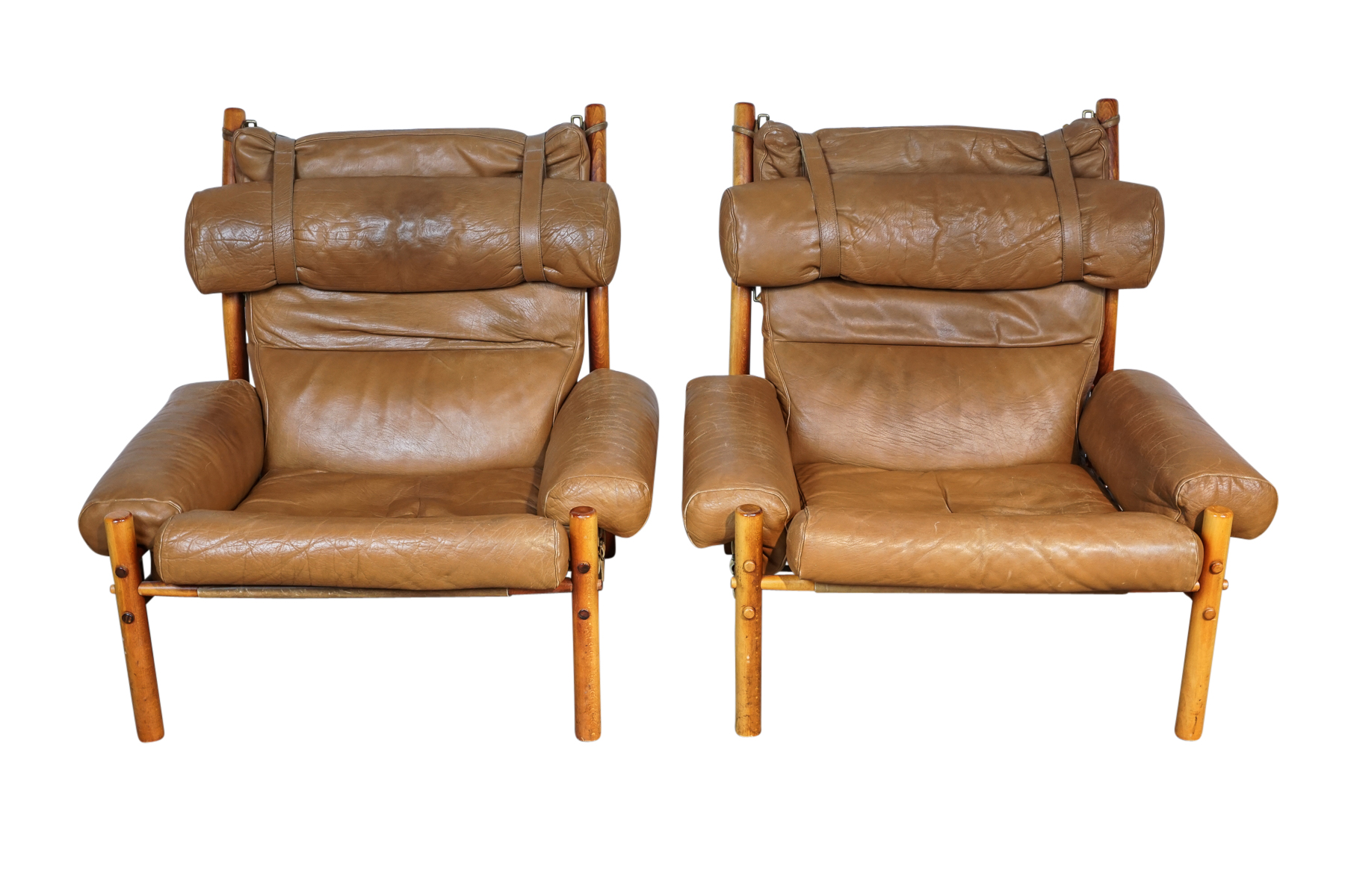 Pair of Arne Norell Inca Chairs