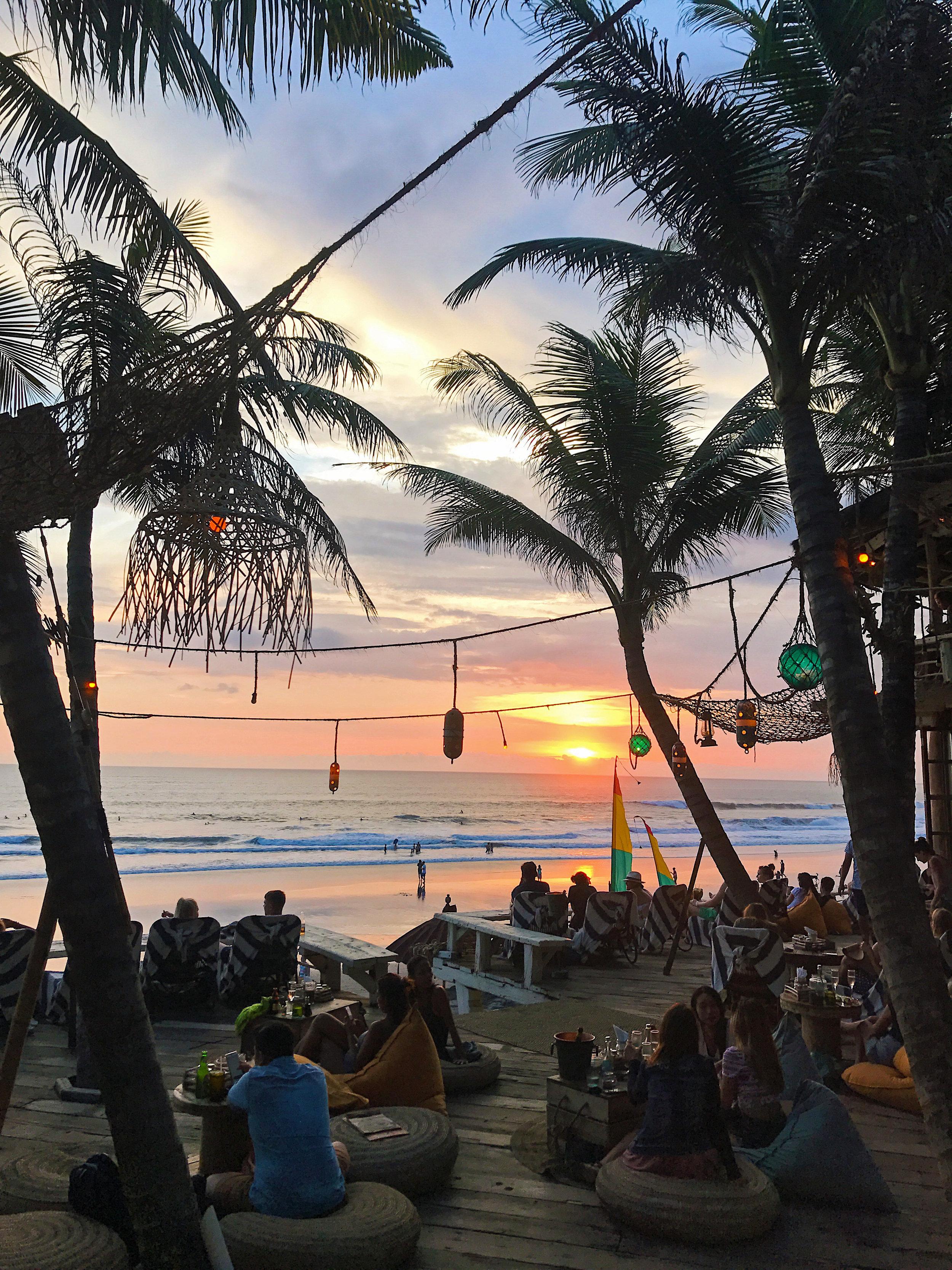 Sunset at La Brisa beach club, Canggu, Bali