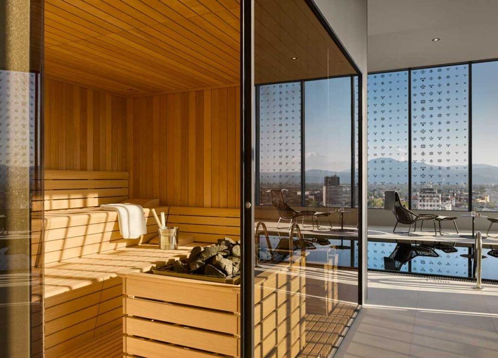 Intercontinental Ljubljana Saruna Wellness swimming pool sauna