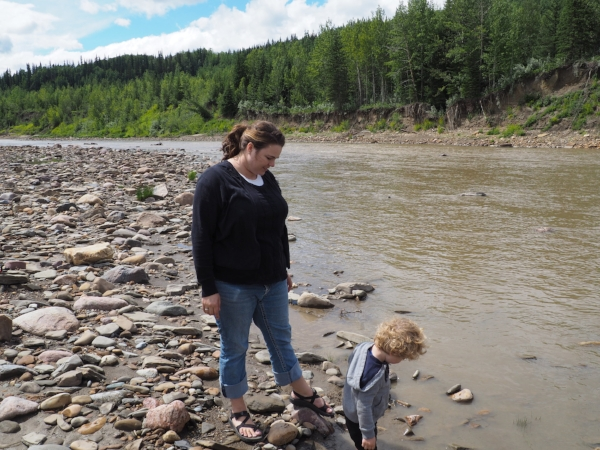 We also spent some time on the Canada Day long weekend at the river! We love going to the river to cool down!