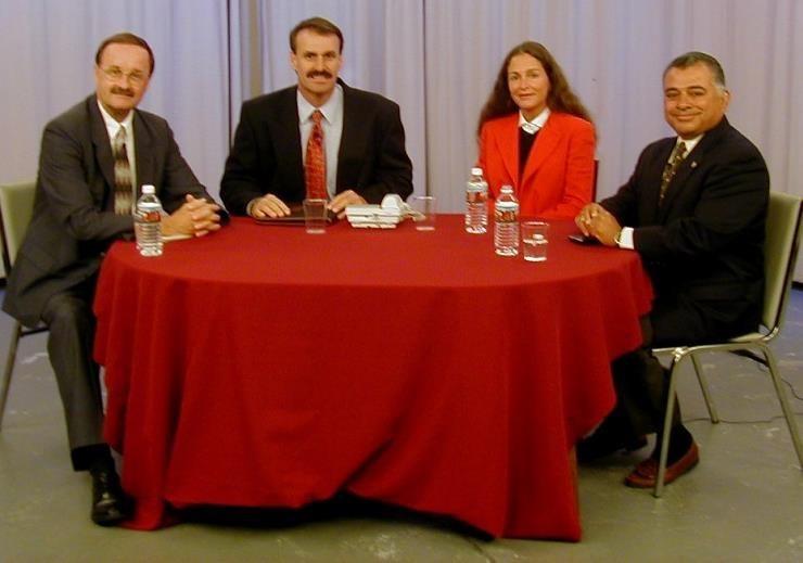 Voice of Oceanside: L-R Jim Wood, Tim Aldrich, Mayoral candidate & Rocky Chavez
