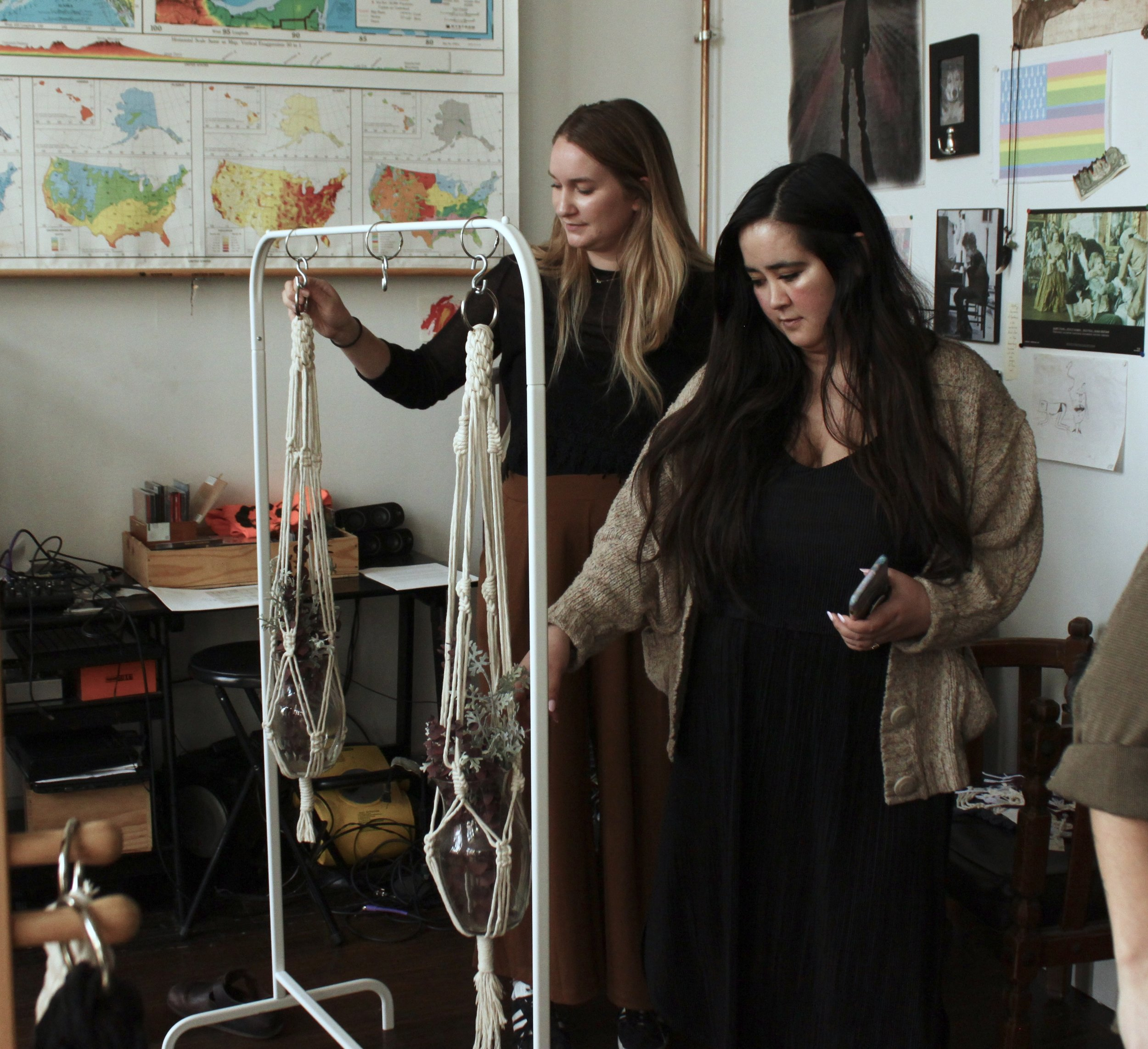 Emily + Melia admiring their work.