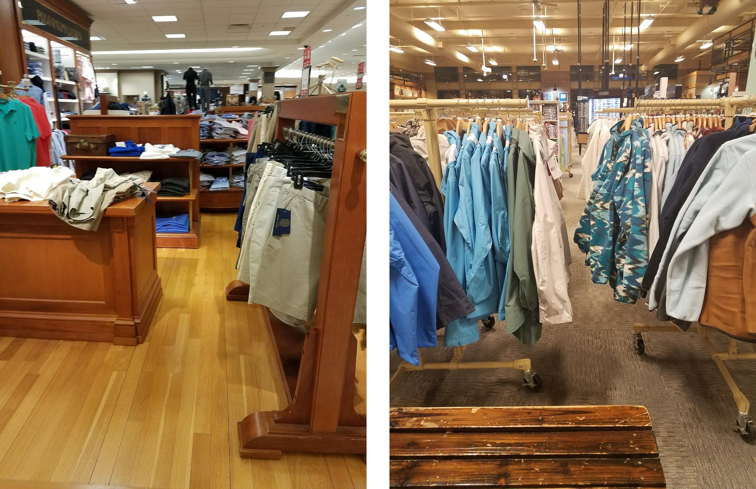 Navigating within the store - Narrow Aisles, narrow check-out lanes and difficulty in opening the doors are some main problems here.
