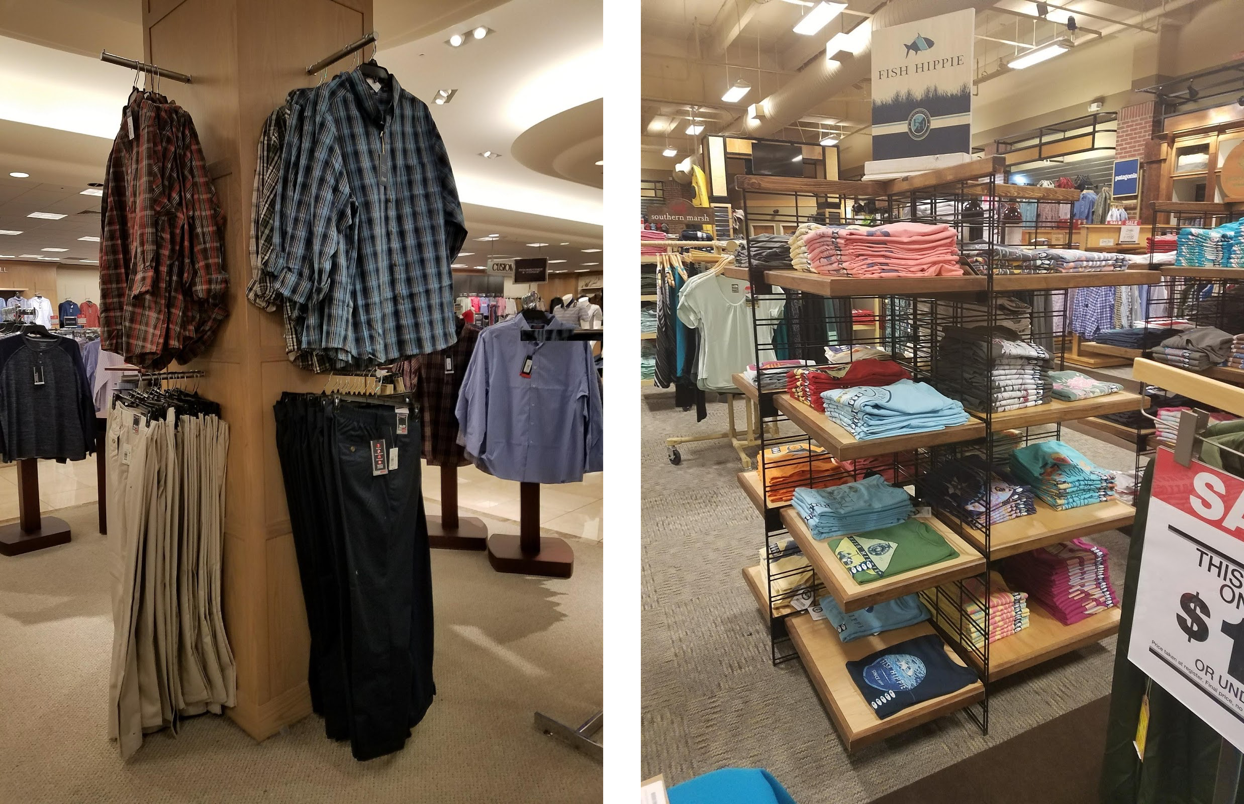 Reaching Problems - High to reach cloth racks & displays and tall to reach checkout tables are some main issues with respect to reachability in the store.