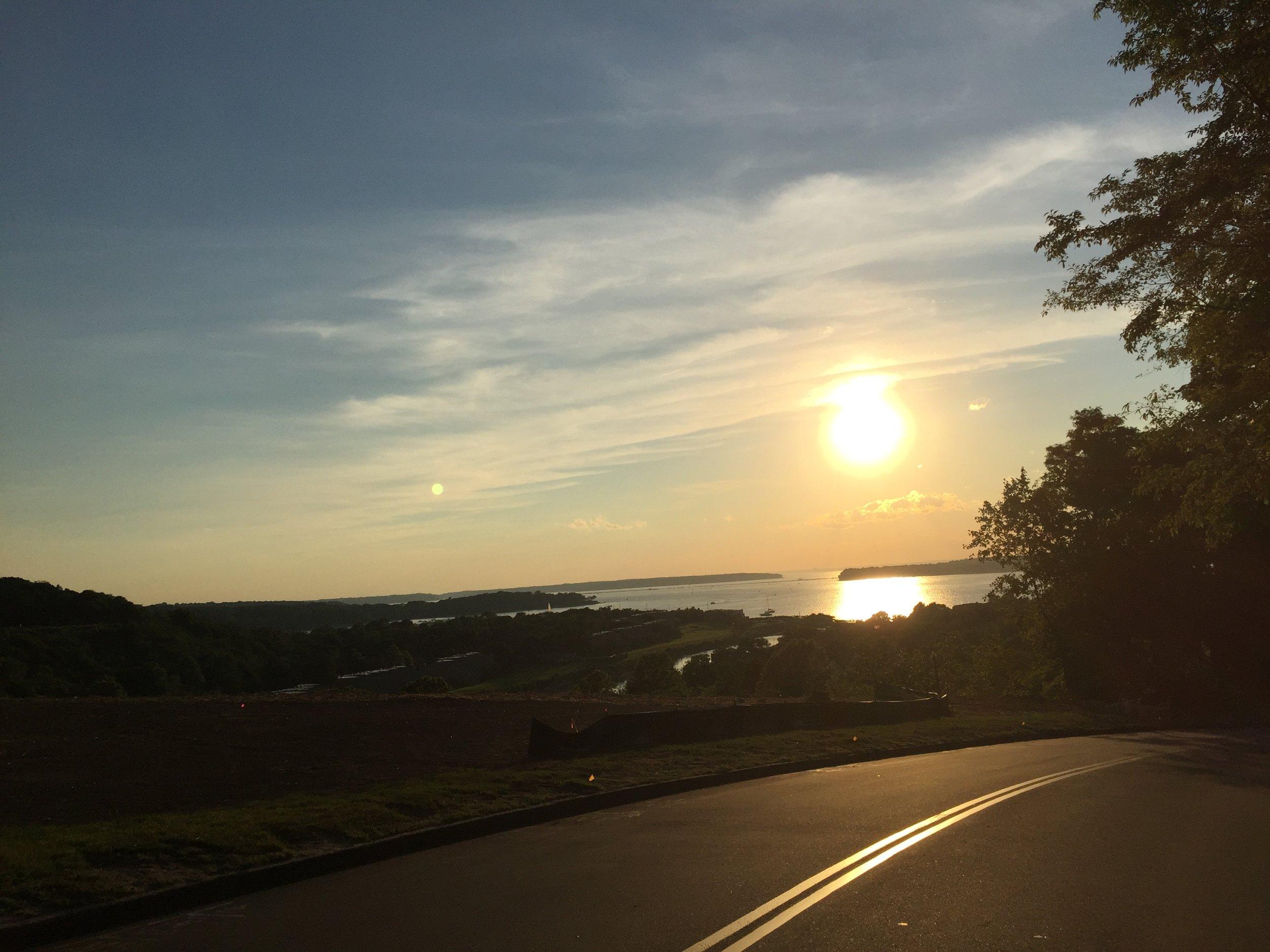 Windows down, enjoying a drive in beautiful Long Island