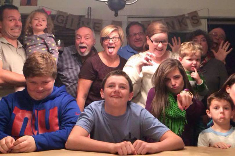 Scott's family being silly