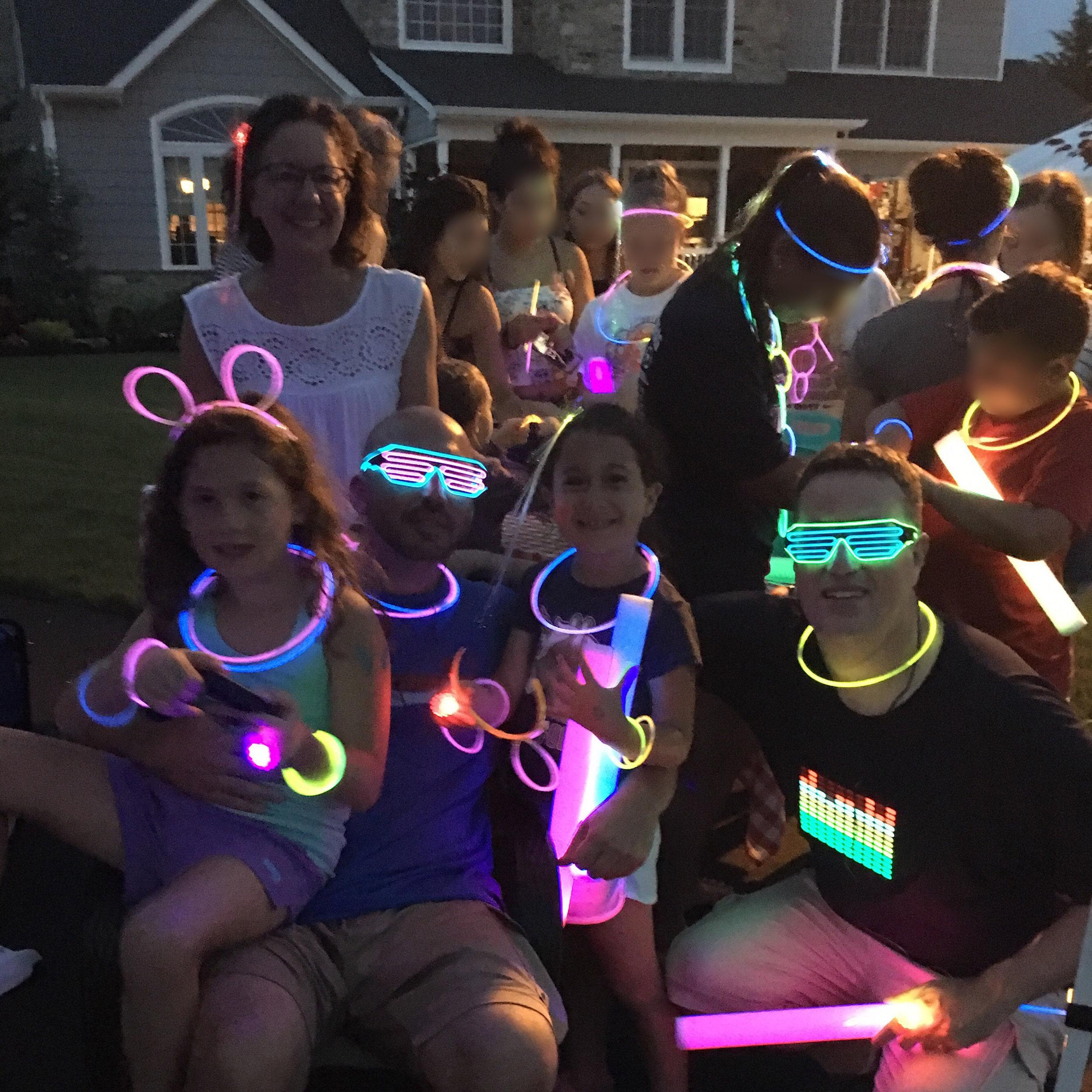 Glow in the dark fun at Block Party