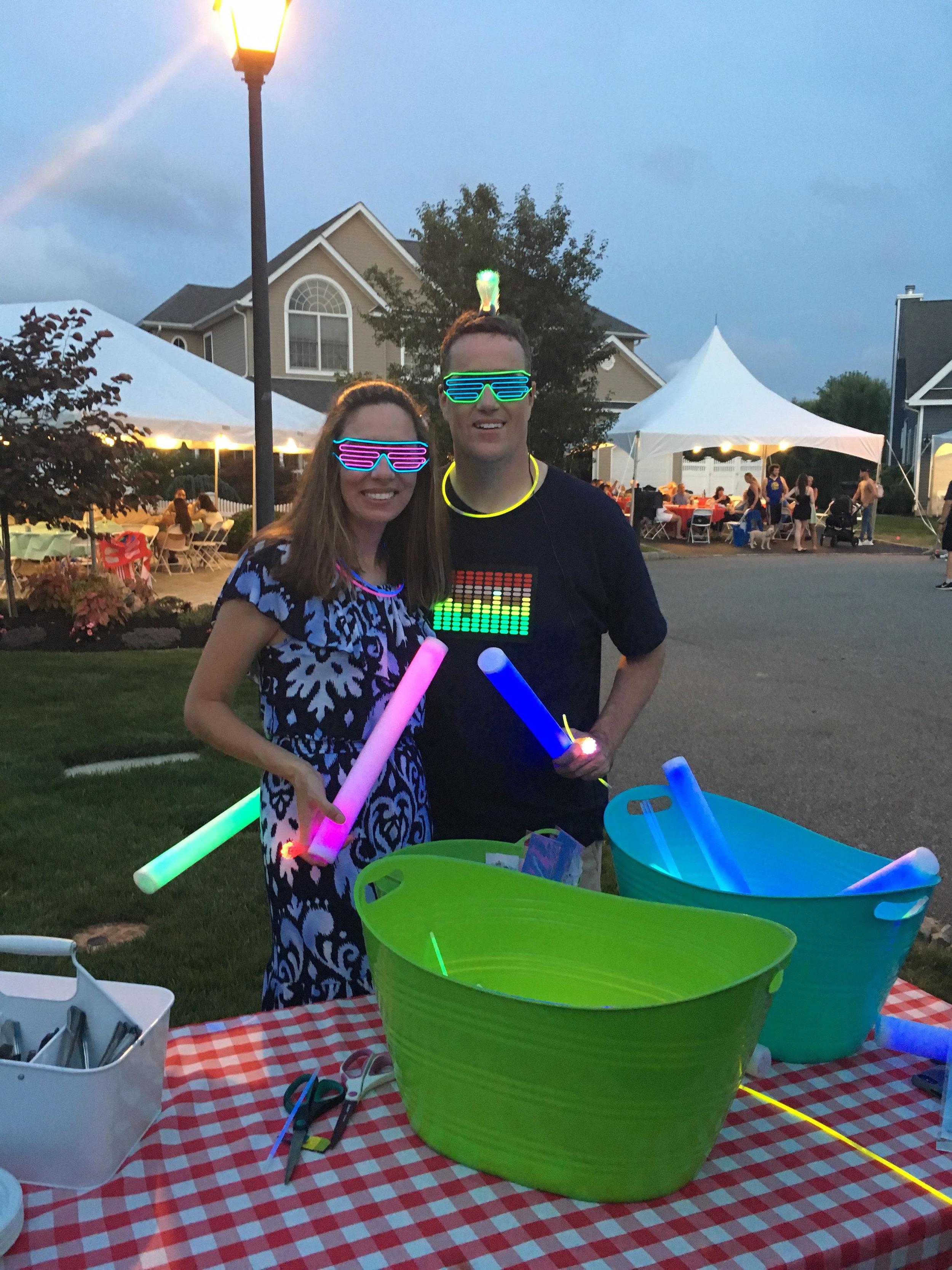 Glow stick fun!
