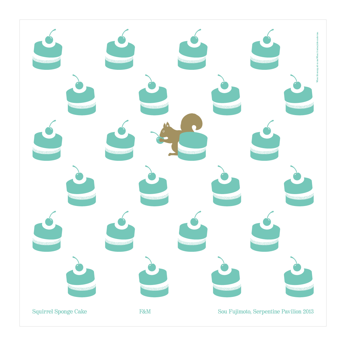Squirrel  Sponge Cake tablecloth