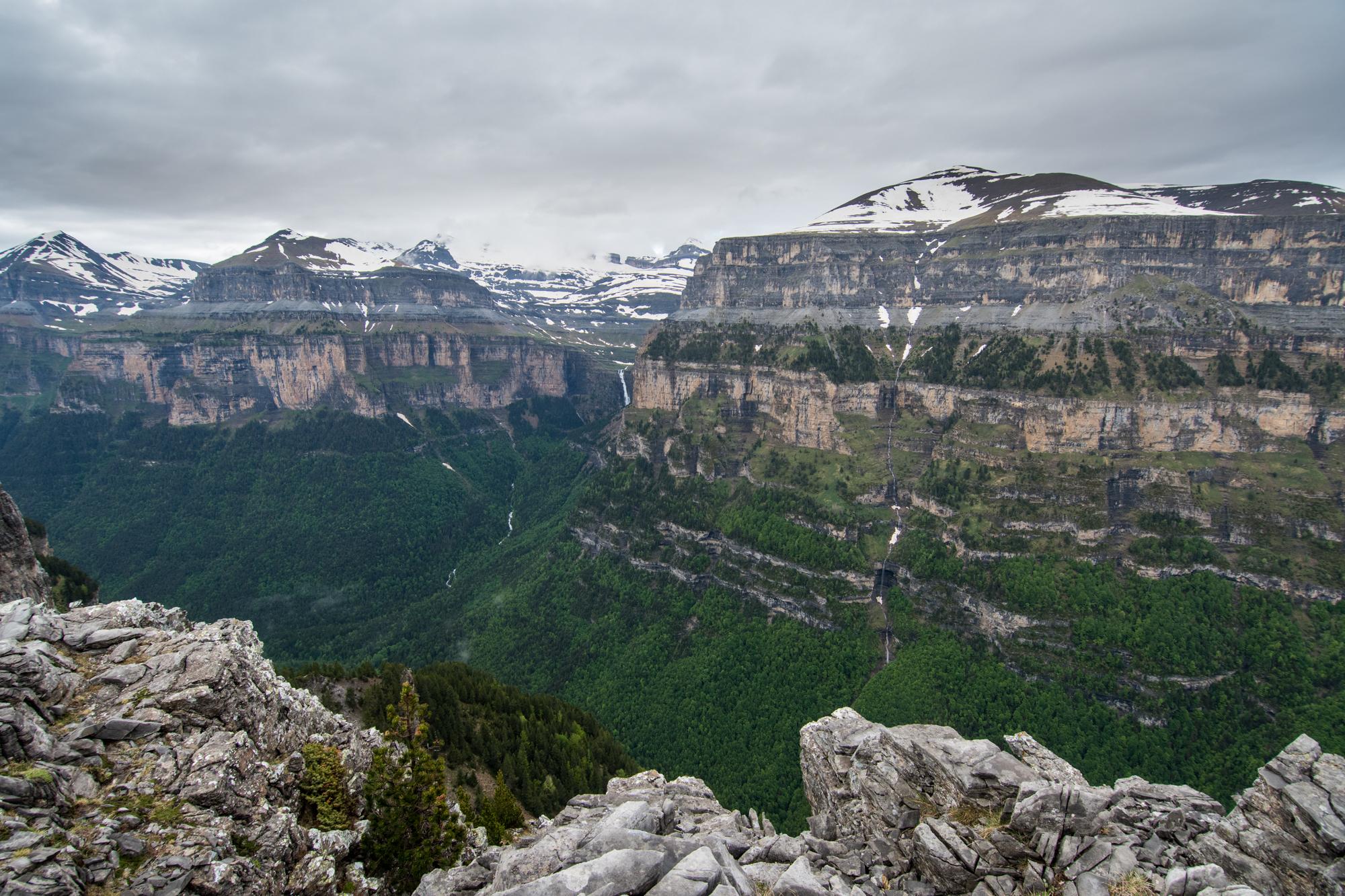 Vista del Valle de Ordesa desde sus miradores.