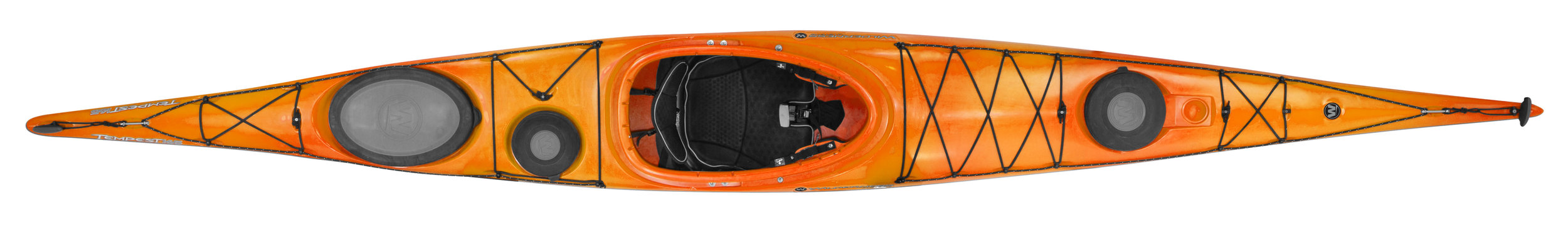 Tempest 165:  British style kayak with a touring orientation. Signature performance, but designed for paddlers with a smaller frame, this touring kayak features a lower deck, narrow beam, and slightly shorter length.