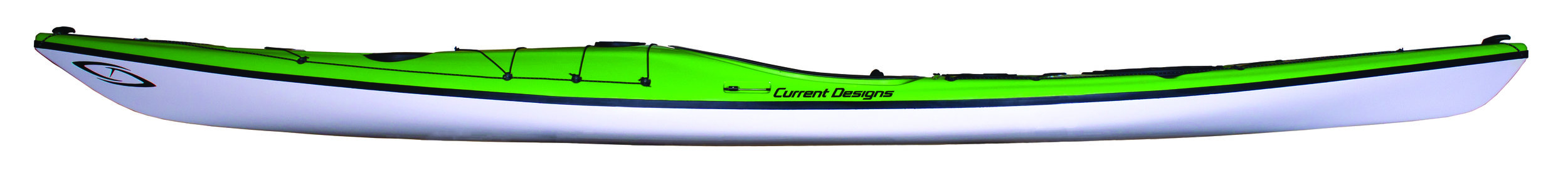"""Prana:  A collaborative effort between Danish designer Jesper Kromann-Andersen and Current Designs award-winning team, the new Prana touring kayak is as much at home in surf and rock gardening as it is to crossing a mirror-like bay. Length: 17' 0"""" Width: 21.00""""   In stock Prana colors."""
