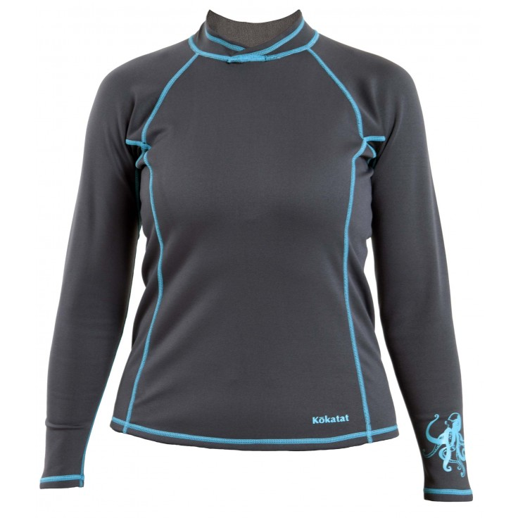 Neocore Longsleeve:  This lightweight 0.5mm neoprene fabric features a plush polyester inner lining that is comfortable against the skin and retains less water. Combined with a Durable Water Resistant (DWR) coating on the outer surface, NeoCore helps regulate body temperature by reducing the effect of evaporative heat loss