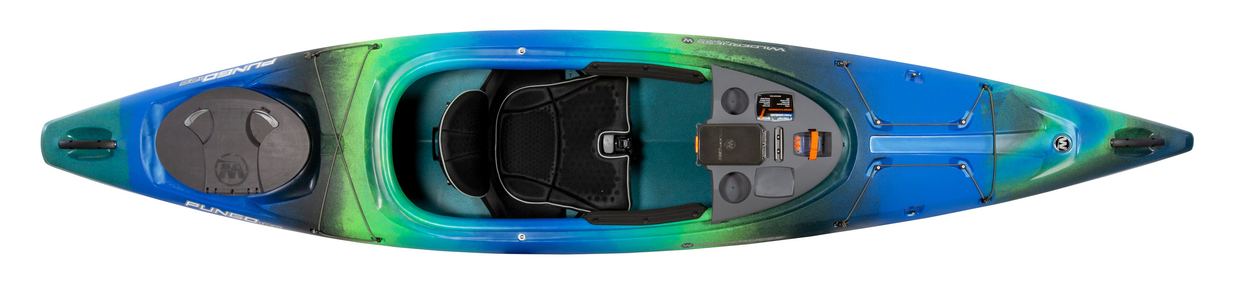 Pungo 125:  Slightly longer and broader that the Pungo 120, with a spacious cockpit. Ideal for larger paddlers.