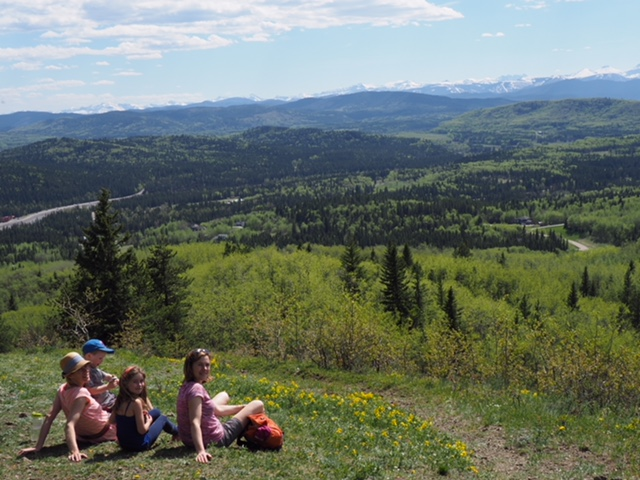Our family hike to Two Pine earlier in the summer