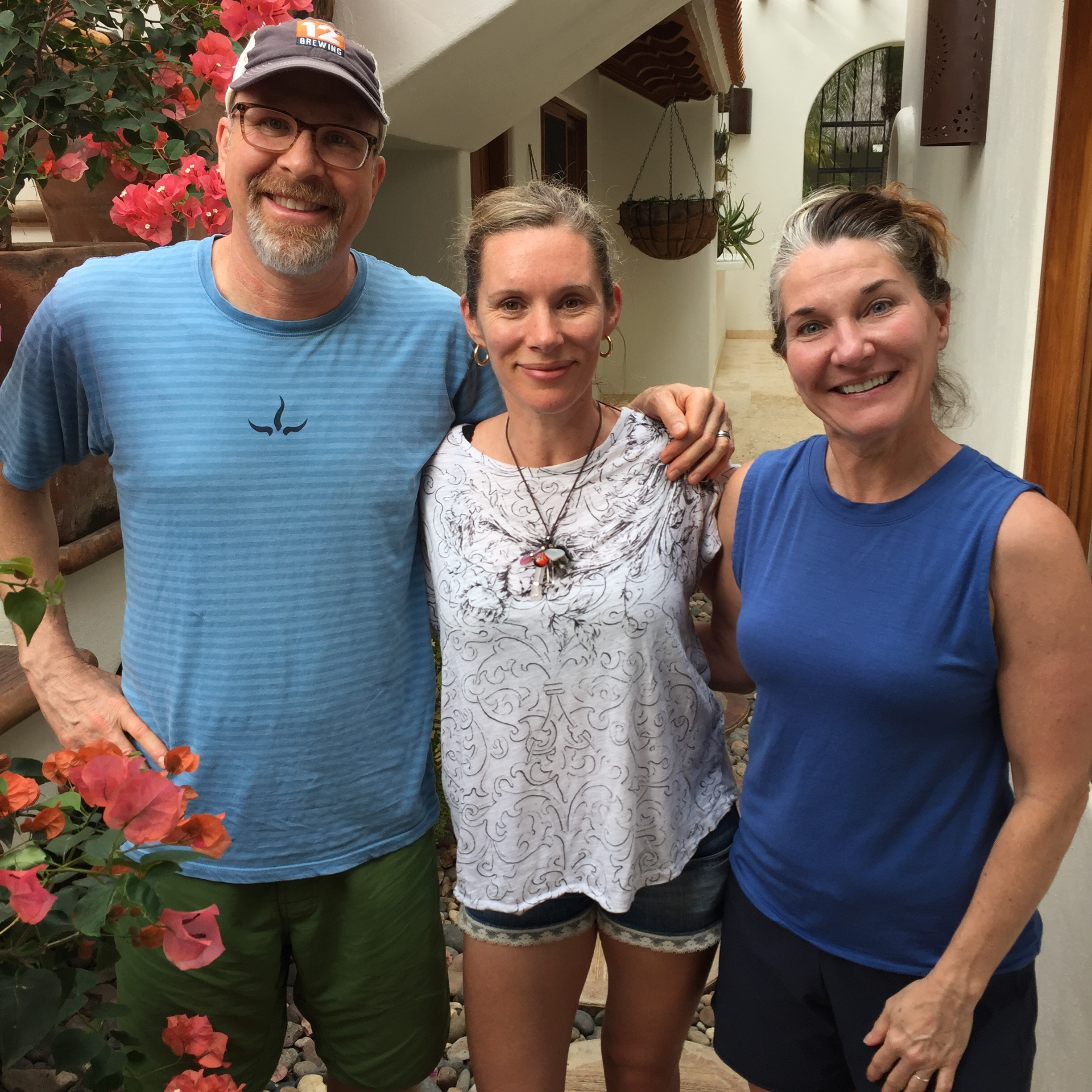 Me with Jennifer Louden (my writing teacher/retreat leader) and her brilliant husband Bob