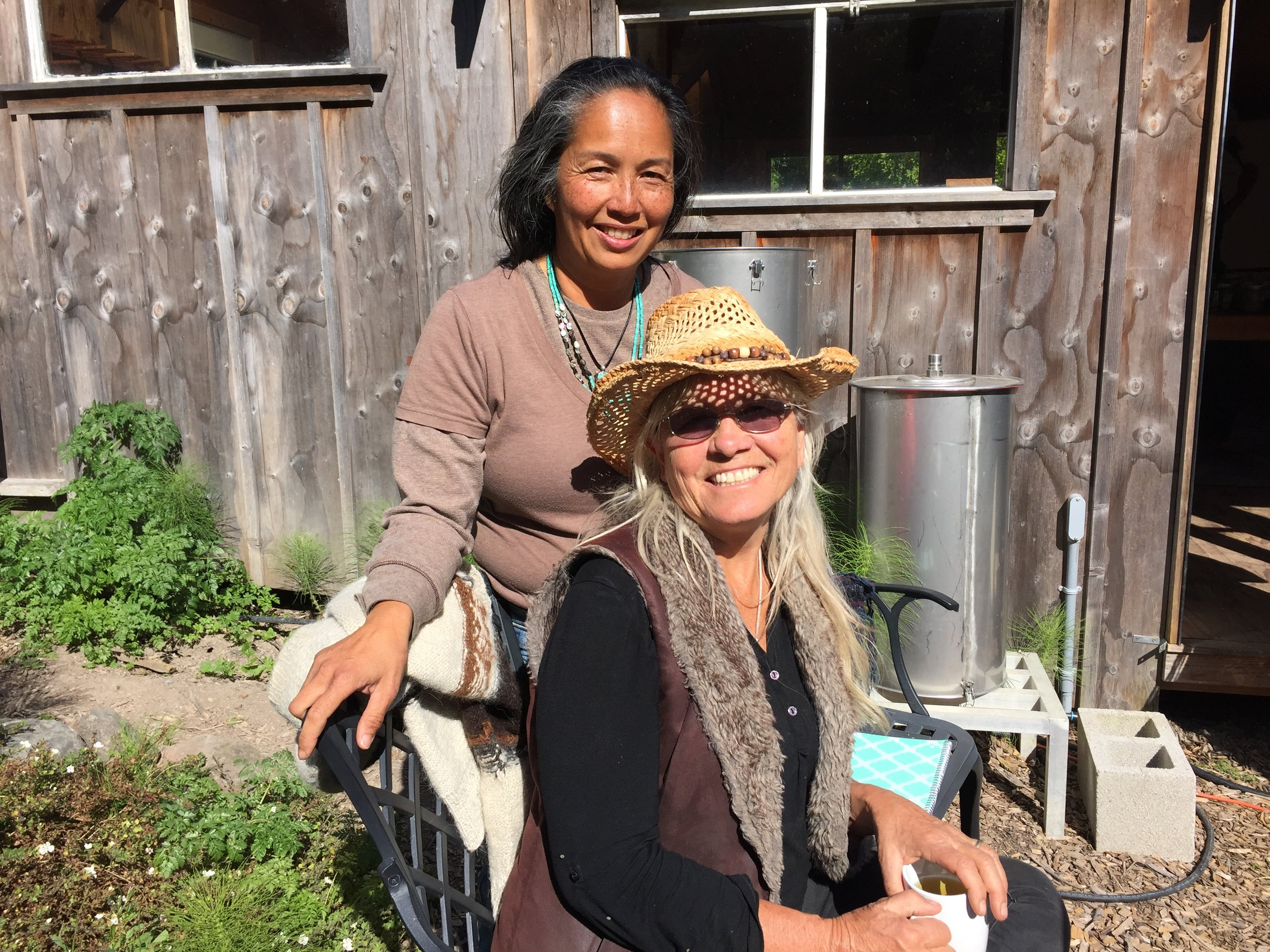 Beautiful teachers in California, Penny and Jeanette, who taught me over a series of long weekends how to use medicinal herbs