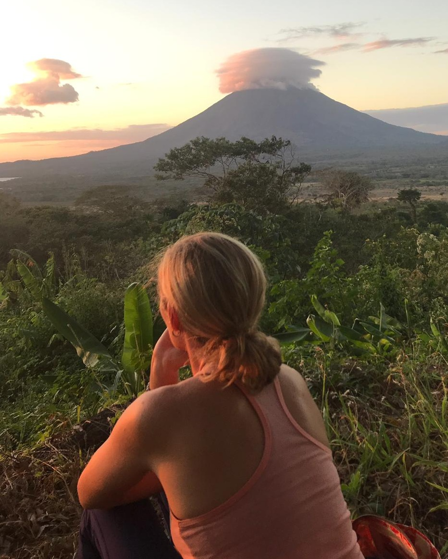 Enjoying the sunset on Ometepe after a day of Shamanic studies