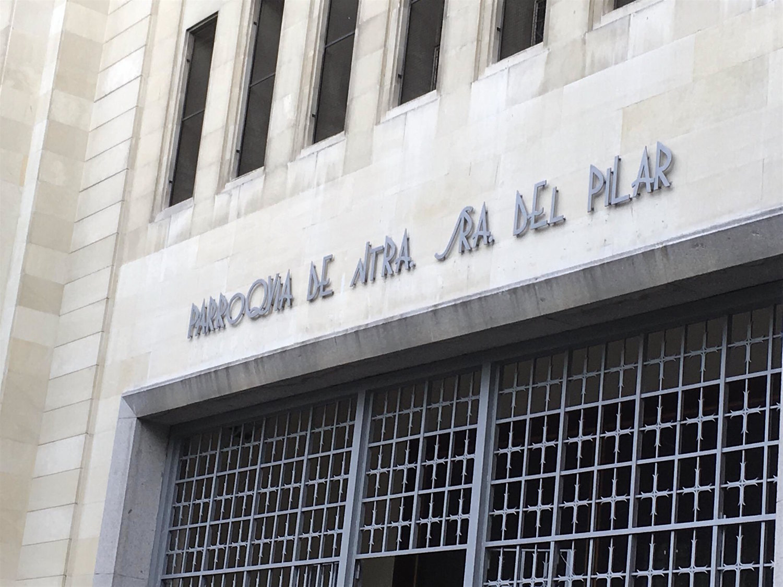 La Parroquia de Nuestra Señora Del Pilar en  Madrid , una de las sedes elegidas por el artista para desarrollar el proyecto  Amén .
