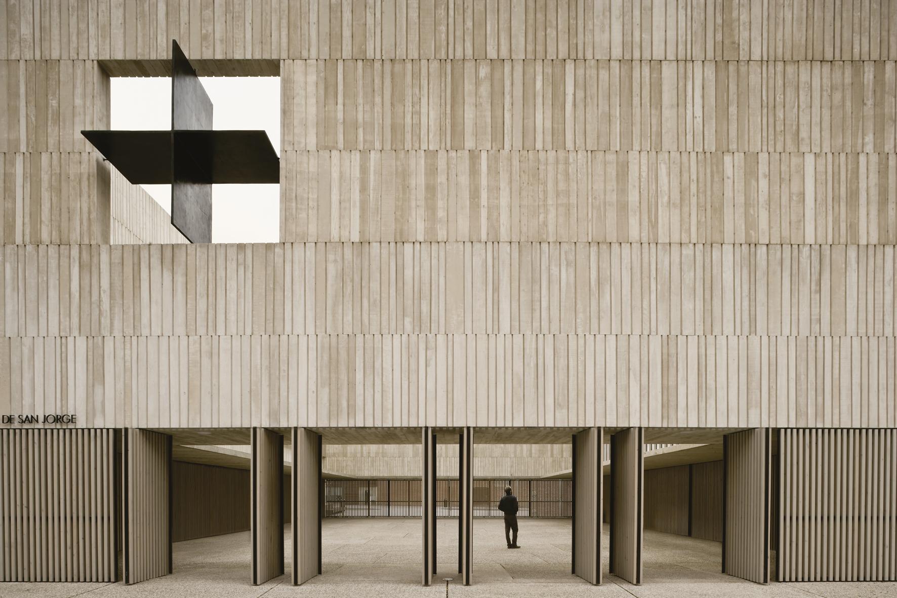Parroquia de San Jorge  en  Pamplona , sede elegida por el artista para desarrollar el proyecto  Amén .