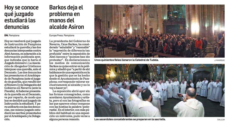 Jueves, 26 de Noviembre de 2015. Diario de Navarra.
