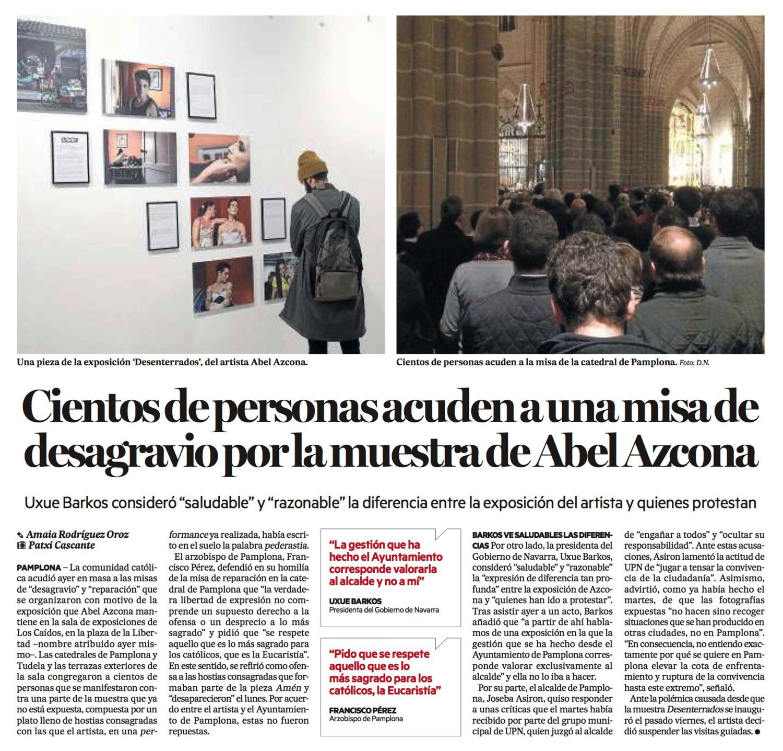 Jueves, 26 de Noviembre de 2015. Diario de Noticias de Navarra.