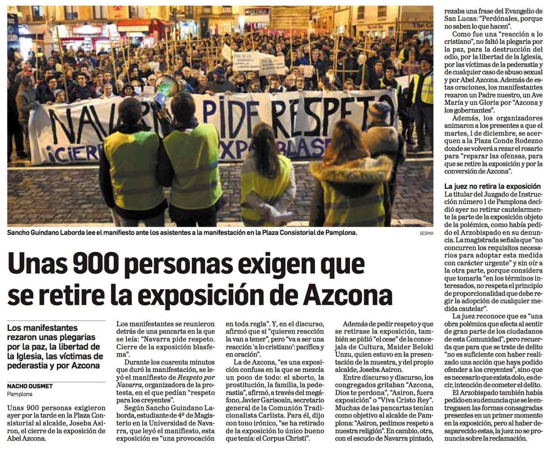 Viernes, 27 de Noviembre de 2015. Diario de Navarra.