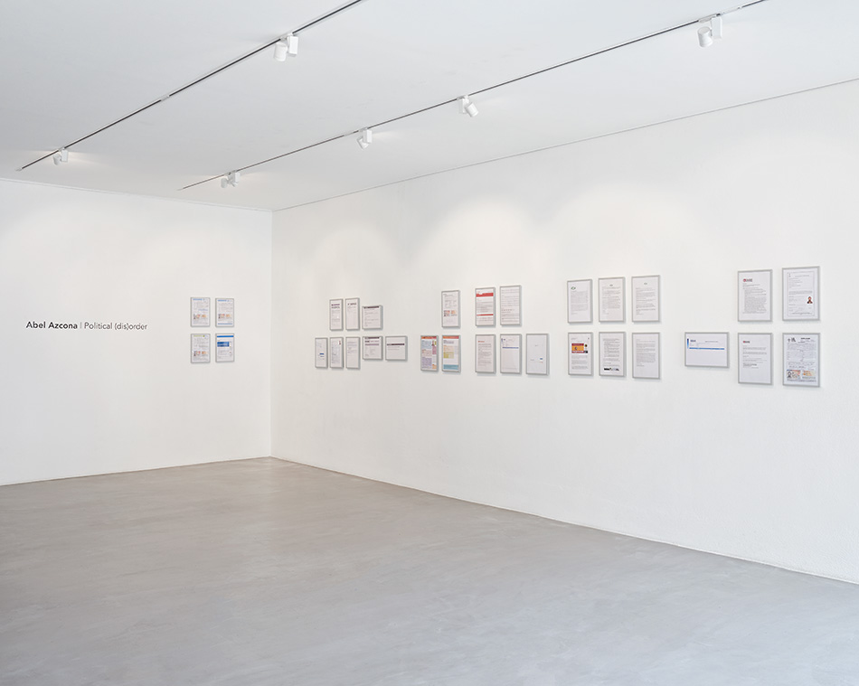 Abel Azcona, «Political (dis)order», vue de l'exposition   photo © David Amaral