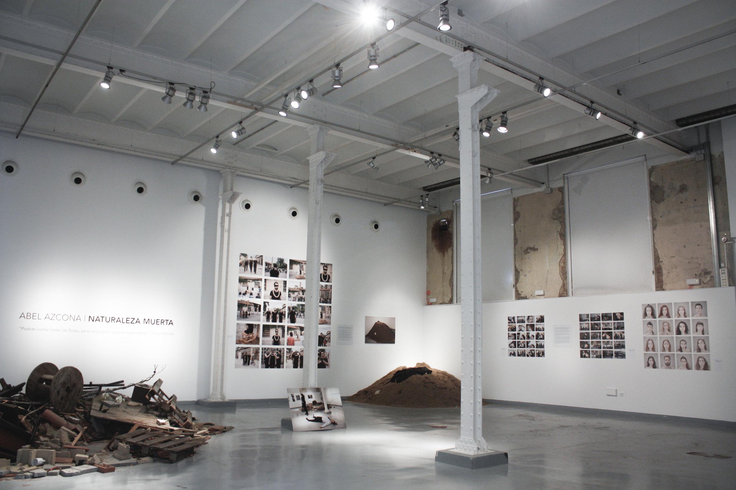 Exposición  Abel Azcona  I  Naturaleza Muerta  en  Roca Umbert Fàbrica de les Arts del 6 al 30 Abril de 2017.