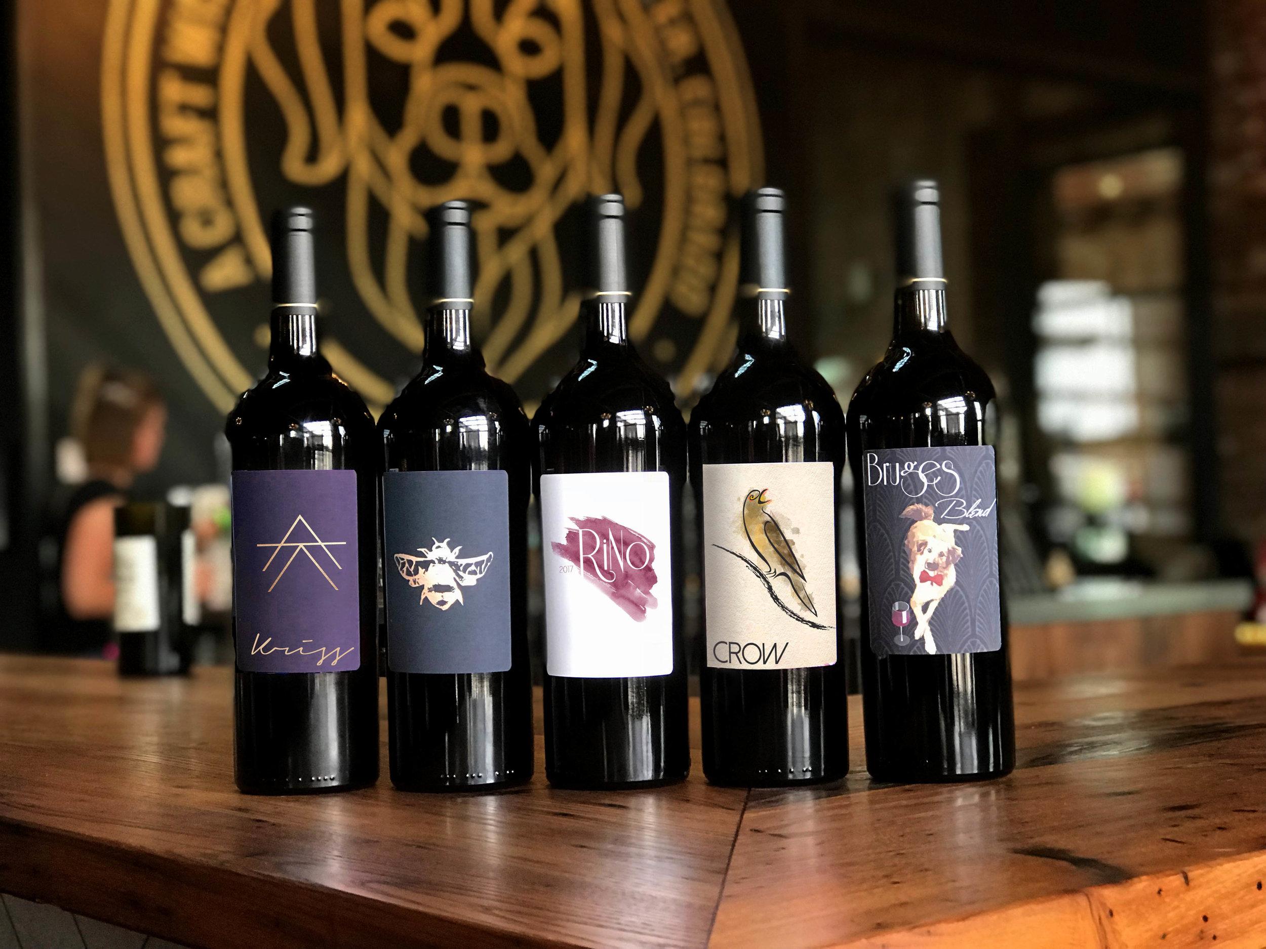 Five Wine Label Designs