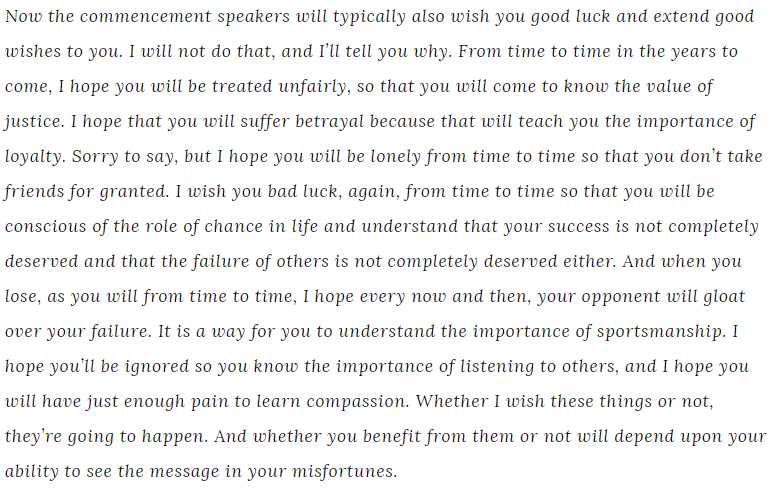 Chief Justice John Roberts graduation speech