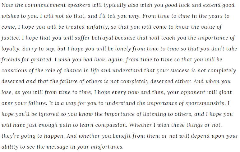 Chief Justice John Roberts graduation speech